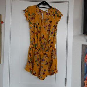 Mustard Floral Romper